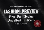 Image of fashion models Paris France, 1963, second 4 stock footage video 65675039216