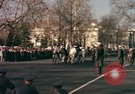 Image of flag-draped casket Washington DC USA, 1963, second 9 stock footage video 65675039219