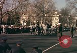 Image of flag-draped casket Washington DC USA, 1963, second 10 stock footage video 65675039219
