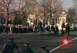 Image of flag-draped casket Washington DC USA, 1963, second 12 stock footage video 65675039219