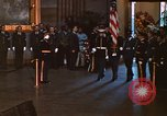 Image of flag-draped casket of John Kennedy Washington DC USA, 1963, second 3 stock footage video 65675039258