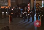 Image of flag-draped casket of John Kennedy Washington DC USA, 1963, second 4 stock footage video 65675039258
