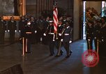Image of flag-draped casket of John Kennedy Washington DC USA, 1963, second 7 stock footage video 65675039258