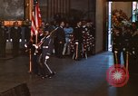 Image of flag-draped casket of John Kennedy Washington DC USA, 1963, second 10 stock footage video 65675039258
