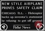 Image of failed ornithopter helicopter trying to fly Chicago Illinois USA, 1925, second 3 stock footage video 65675039280
