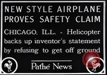 Image of failed ornithopter helicopter trying to fly Chicago Illinois USA, 1925, second 9 stock footage video 65675039280