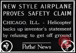 Image of failed ornithopter helicopter trying to fly Chicago Illinois USA, 1925, second 11 stock footage video 65675039280