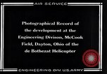 Image of De Bothezat Helicopter Dayton Ohio USA, 1921, second 9 stock footage video 65675039283