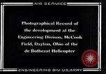 Image of De Bothezat Helicopter Dayton Ohio USA, 1921, second 10 stock footage video 65675039283