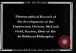 Image of De Bothezat Helicopter Dayton Ohio USA, 1921, second 11 stock footage video 65675039283