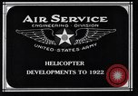 Image of Leinweber Brothers helicopter Chicago Illinois USA, 1922, second 6 stock footage video 65675039285