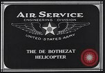 Image of De Bothezat helicopter Dayton Ohio USA, 1922, second 2 stock footage video 65675039289