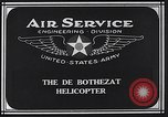 Image of De Bothezat helicopter Dayton Ohio USA, 1922, second 4 stock footage video 65675039289