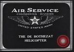 Image of De Bothezat helicopter Dayton Ohio USA, 1922, second 8 stock footage video 65675039289