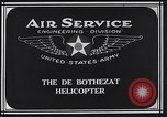 Image of De Bothezat helicopter Dayton Ohio USA, 1922, second 9 stock footage video 65675039289