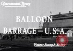 Image of Barrage balloons Fort Lewis Washington USA, 1941, second 2 stock footage video 65675039309