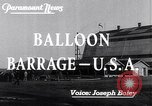 Image of Barrage balloons Fort Lewis Washington USA, 1941, second 4 stock footage video 65675039309