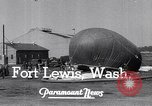 Image of Barrage balloons Fort Lewis Washington USA, 1941, second 9 stock footage video 65675039309