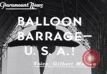 Image of barrage balloons Wingfoot Lake Ohio USA, 1941, second 2 stock footage video 65675039339