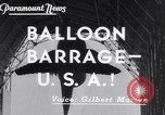 Image of barrage balloons Wingfoot Lake Ohio USA, 1941, second 4 stock footage video 65675039339