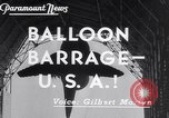 Image of barrage balloons Wingfoot Lake Ohio USA, 1941, second 5 stock footage video 65675039339