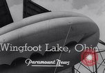 Image of barrage balloons Wingfoot Lake Ohio USA, 1941, second 6 stock footage video 65675039339
