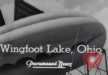 Image of barrage balloons Wingfoot Lake Ohio USA, 1941, second 7 stock footage video 65675039339