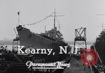 Image of cruiser Atlanta Kearny New Jersey USA, 1941, second 10 stock footage video 65675039357
