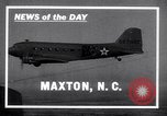 Image of C-47 aircraft Maxton North Carolina USA, 1941, second 1 stock footage video 65675039378
