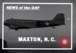 Image of C-47 aircraft Maxton North Carolina USA, 1941, second 2 stock footage video 65675039378