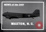 Image of C-47 aircraft Maxton North Carolina USA, 1941, second 3 stock footage video 65675039378