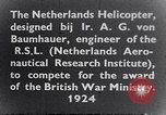 Image of Netherlands helicopter Netherlands, 1941, second 4 stock footage video 65675039385