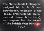 Image of Netherlands helicopter Netherlands, 1941, second 5 stock footage video 65675039385
