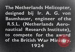 Image of Netherlands helicopter Netherlands, 1941, second 6 stock footage video 65675039385