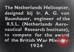 Image of Netherlands helicopter Netherlands, 1941, second 7 stock footage video 65675039385