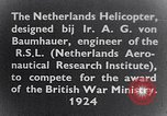 Image of Netherlands helicopter Netherlands, 1941, second 12 stock footage video 65675039385