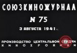 Image of Chairman Mikhail Kalinin Moscow Russia Soviet Union, 1941, second 10 stock footage video 65675039427