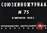 Image of Chairman Mikhail Kalinin Moscow Russia Soviet Union, 1941, second 11 stock footage video 65675039427