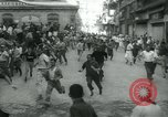 Image of San Fermin Festival Running of the Bulls Pamplona Spain, 1959, second 12 stock footage video 65675039451
