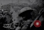 Image of British Mark IV tank with infantry in World War I Western Front, 1917, second 3 stock footage video 65675039556