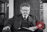 Image of Leon Trotsky commenting about Europe and the USA Copenhagen, 1932, second 1 stock footage video 65675039586
