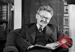 Image of Leon Trotsky commenting about Europe and the USA Copenhagen, 1932, second 3 stock footage video 65675039586