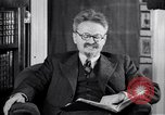 Image of Leon Trotsky commenting about Europe and the USA Copenhagen, 1932, second 5 stock footage video 65675039586