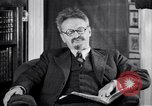Image of Leon Trotsky commenting about Europe and the USA Copenhagen, 1932, second 6 stock footage video 65675039586