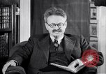 Image of Leon Trotsky commenting about Europe and the USA Copenhagen, 1932, second 7 stock footage video 65675039586