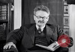 Image of Leon Trotsky commenting about Europe and the USA Copenhagen, 1932, second 8 stock footage video 65675039586