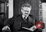 Image of Leon Trotsky commenting about Europe and the USA Copenhagen, 1932, second 9 stock footage video 65675039586