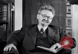 Image of Leon Trotsky commenting about Europe and the USA Copenhagen, 1932, second 10 stock footage video 65675039586