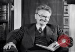 Image of Leon Trotsky commenting about Europe and the USA Copenhagen, 1932, second 11 stock footage video 65675039586