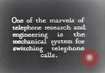 Image of early telephone switching and dialing United States USA, 1926, second 12 stock footage video 65675039599